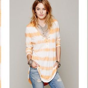 Free People We The Free Radical Henley Tunic M